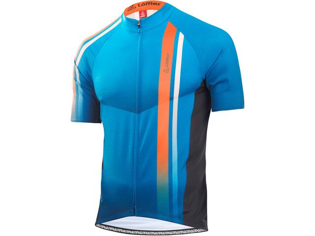 Löffler hotBOND Maillot de cyclisme zippé Homme, brillant blue